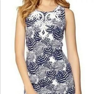 Lilly Pulitzer Size M Foster Shift Dress Blue